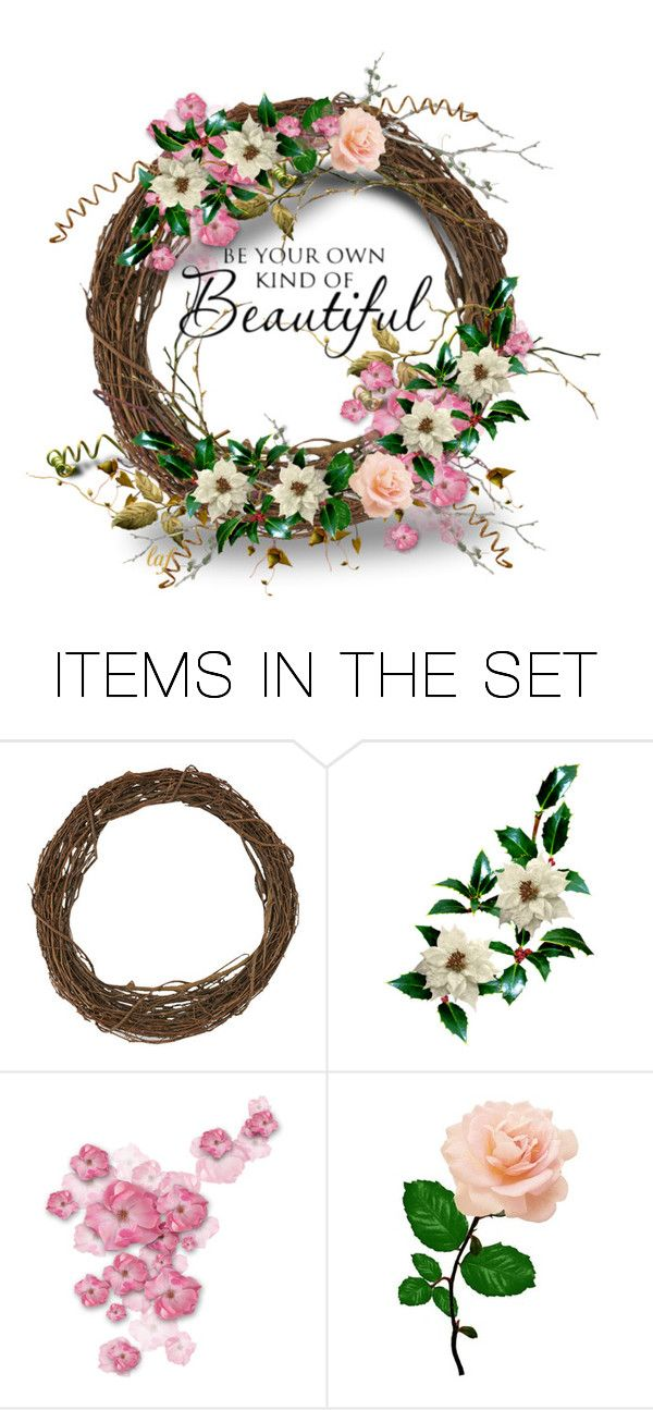 """Twig Wreath"" by lois-boyce-flack ❤ liked on Polyvore featuring art"