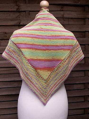 Sc Patience Shawl ~ free pattern ᛡ | Crochet/Knit Scarfs & Shawls ...