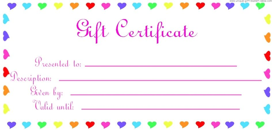 1000 ideas about Blank Gift Certificate – Birthday Gift Coupon Template