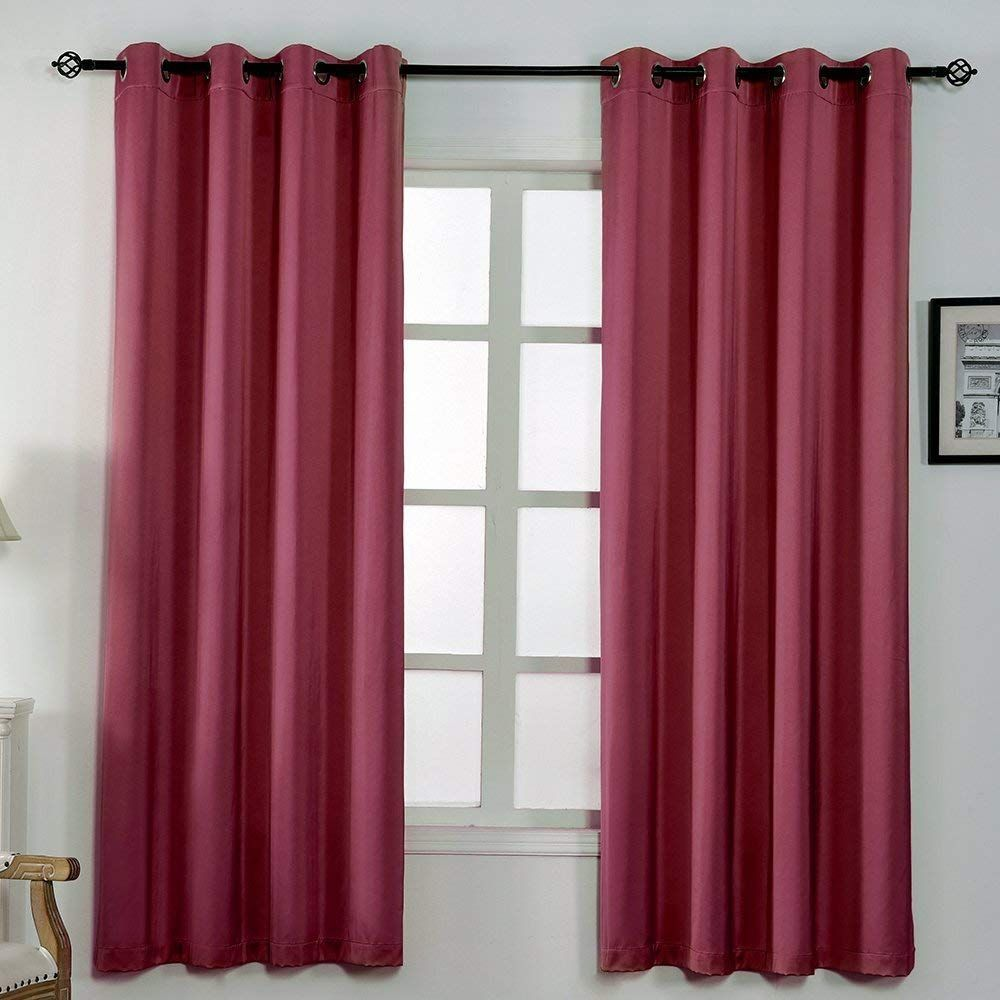 100 Polyester Curtains Size W52 L63 W52 L84 Colors Beige Burgundy Fresh Green Grey Lavender Light Grey Na Curtains Drapes Curtains Curtains Bedroom