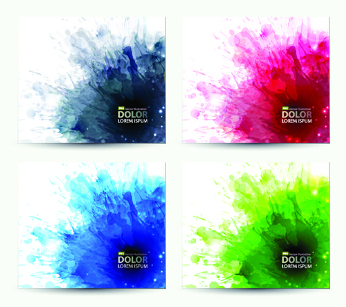 Splash Watercolor Stains Background Vector 03 For Free Download
