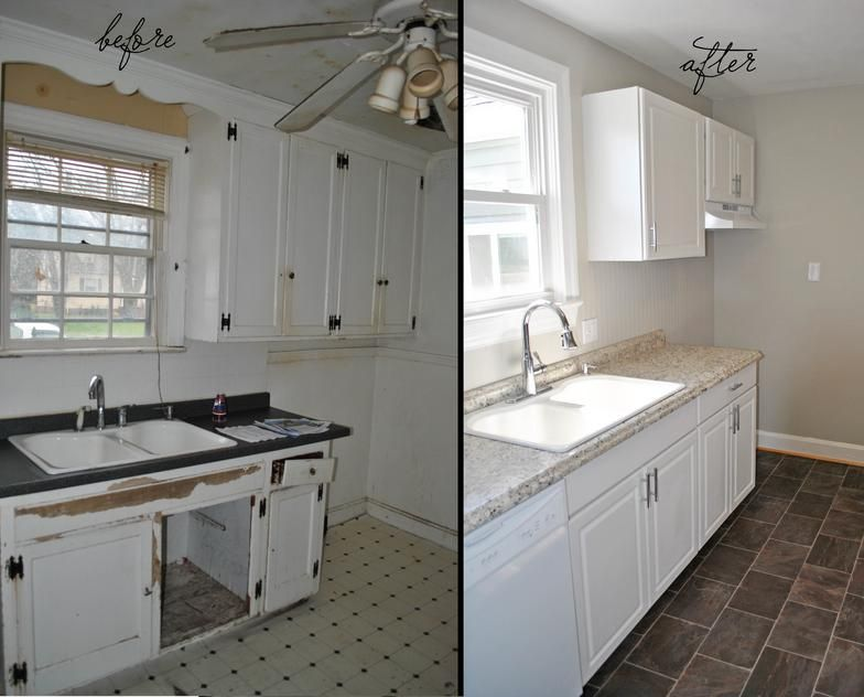 We made over this galley kitchen for less than $4,000 in materials ...