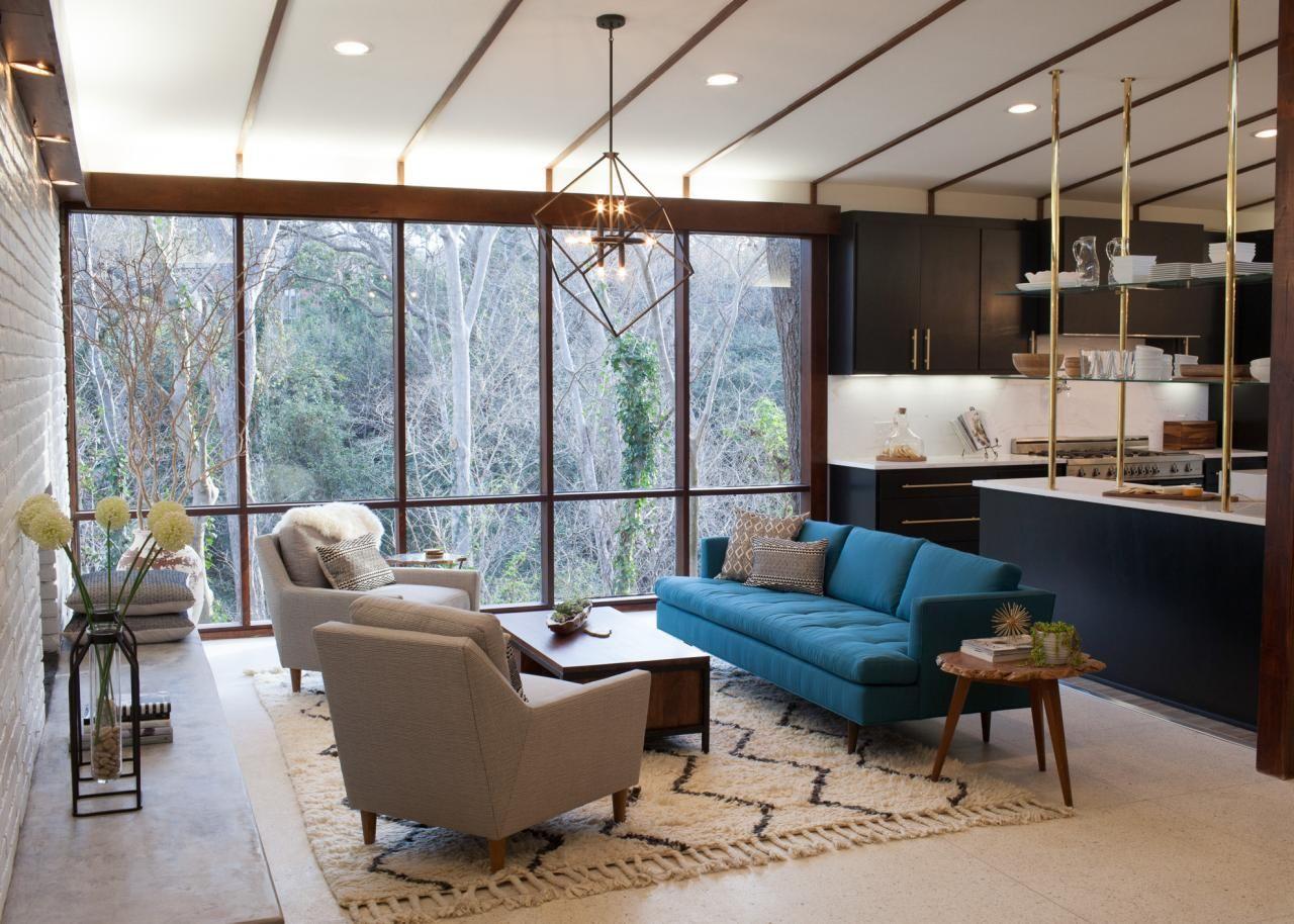 As seen on hgtvs fixer upper mid century modern living room mid century house