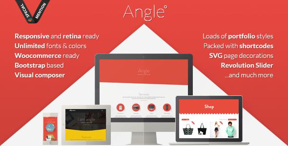 Angle Flat MultiPurpose Theme قالب چند منظوره با طراحی فلت