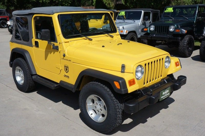 "2002 ""Solar Yellow"" Jeep Wrangler 4.0L Inline Six"