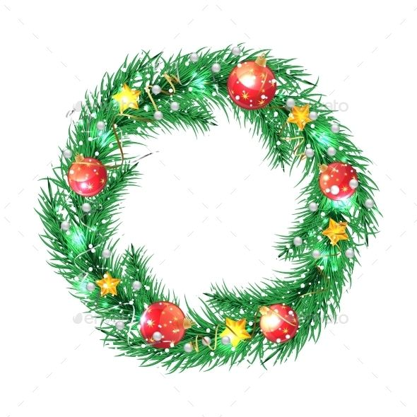 Green Christmas Wreath Christmas Wreaths Green Christmas Merry Christmas Vector