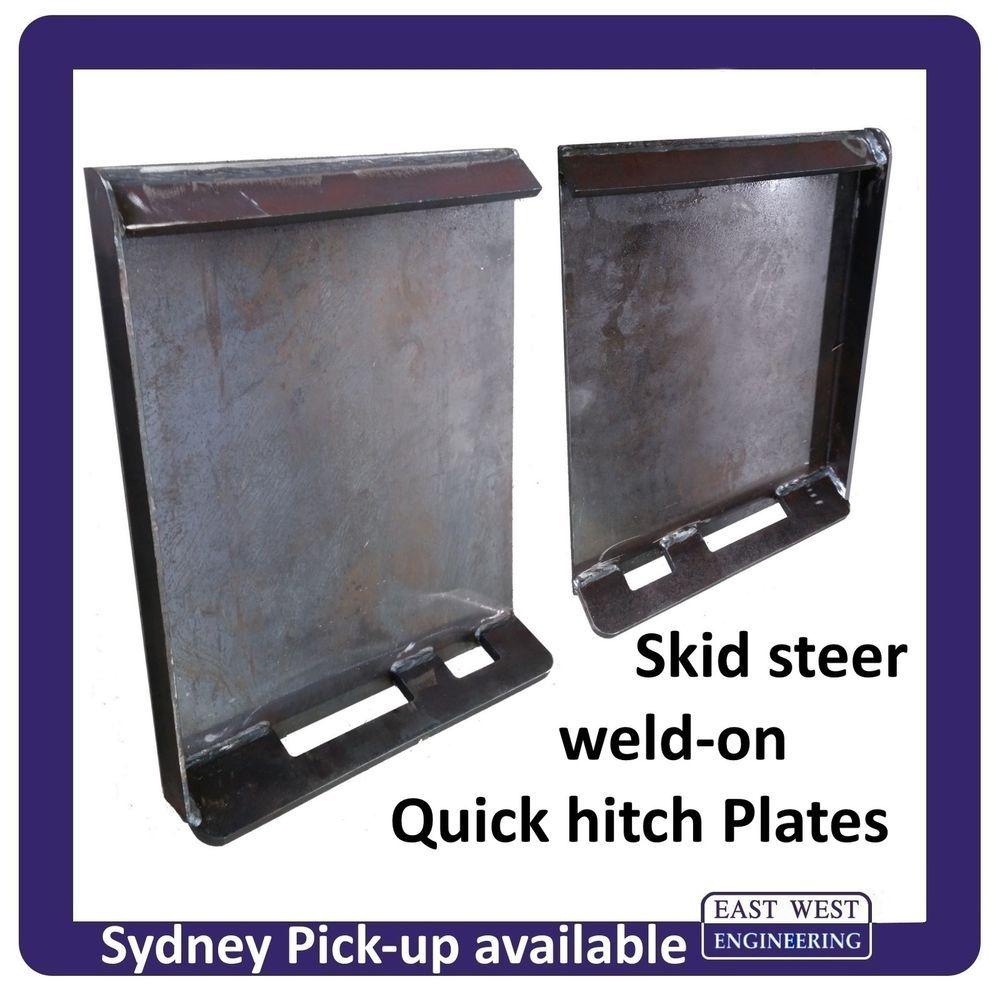 SKID STEER QUICK HITCH WELD-ON BRACKETS MOUNTING PLATES LH +