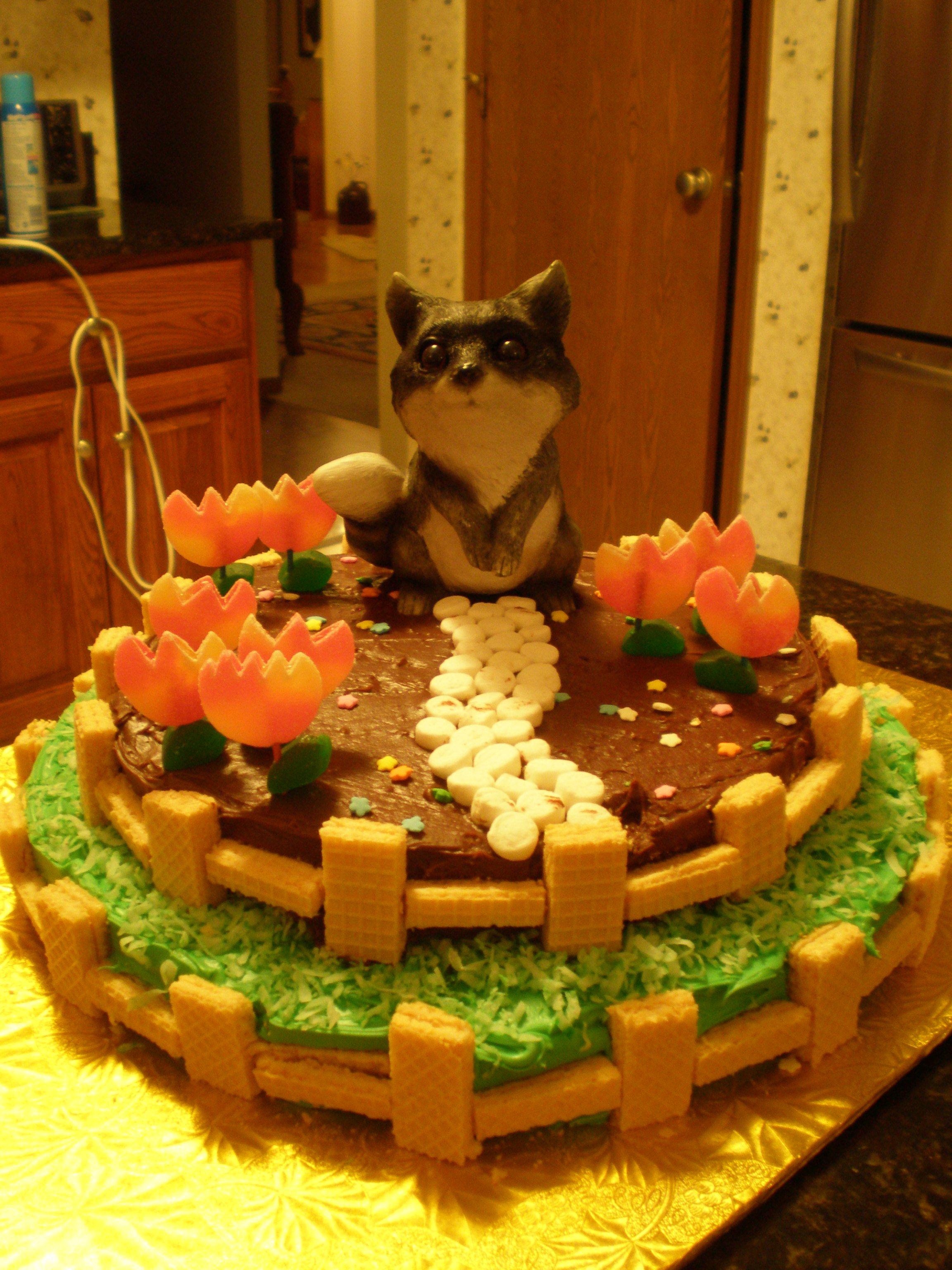 Raccoon Cake we decorated | My Sweets! | Pinterest | Cake ... - photo#42