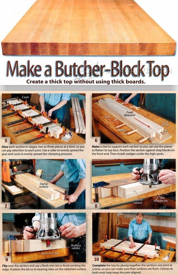 Diy Butchers Block Top Woodworking Tips And Techniques Woodarchivist