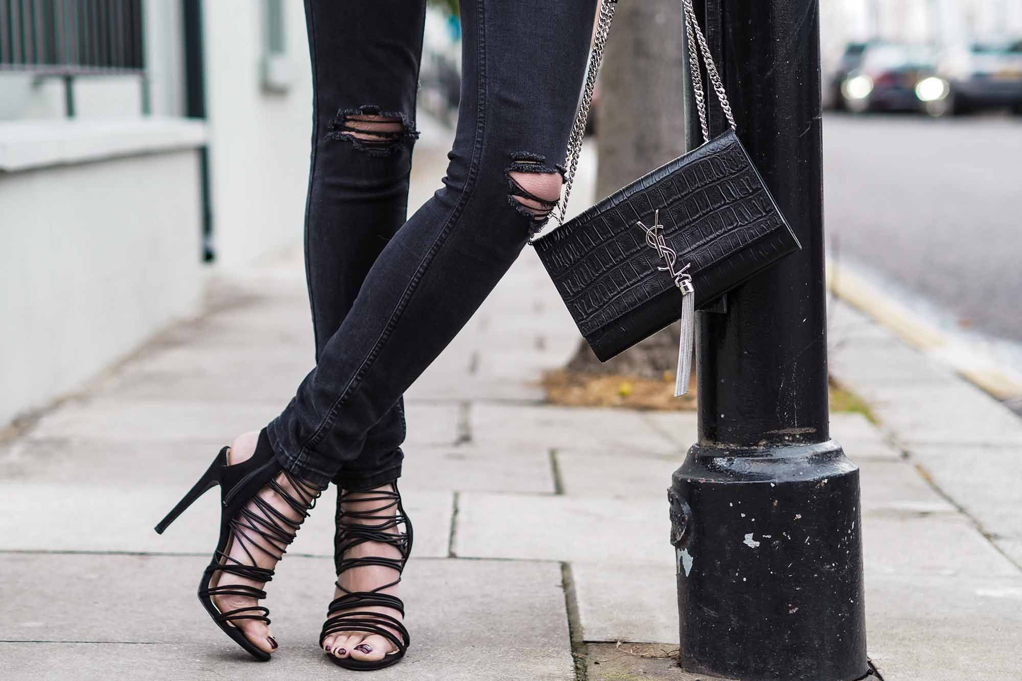 black strappy heels 33178c7b14ec6