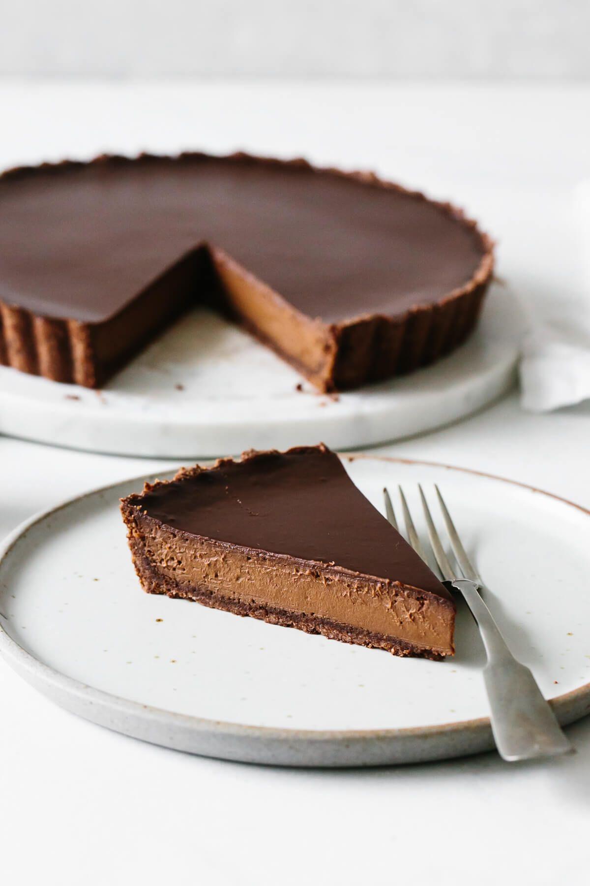 Chocolate Truffle Tart (gluten-free, dairy-free)