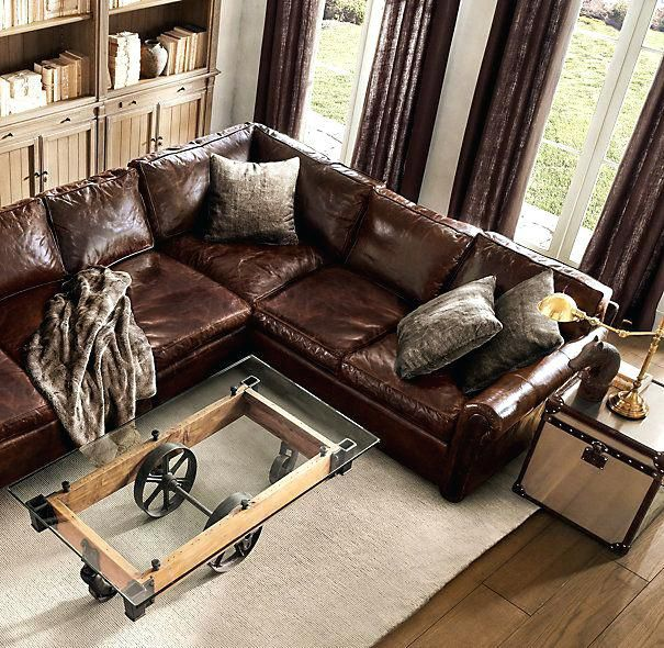 Best Luxury Leather Sectionals Original Leather L Sectional 400 x 300