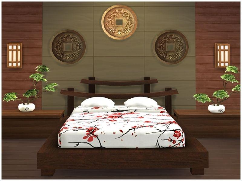 Severinka_\'s Asian bedroom | Sims 4 CC Sets | Pinterest | Asian ...