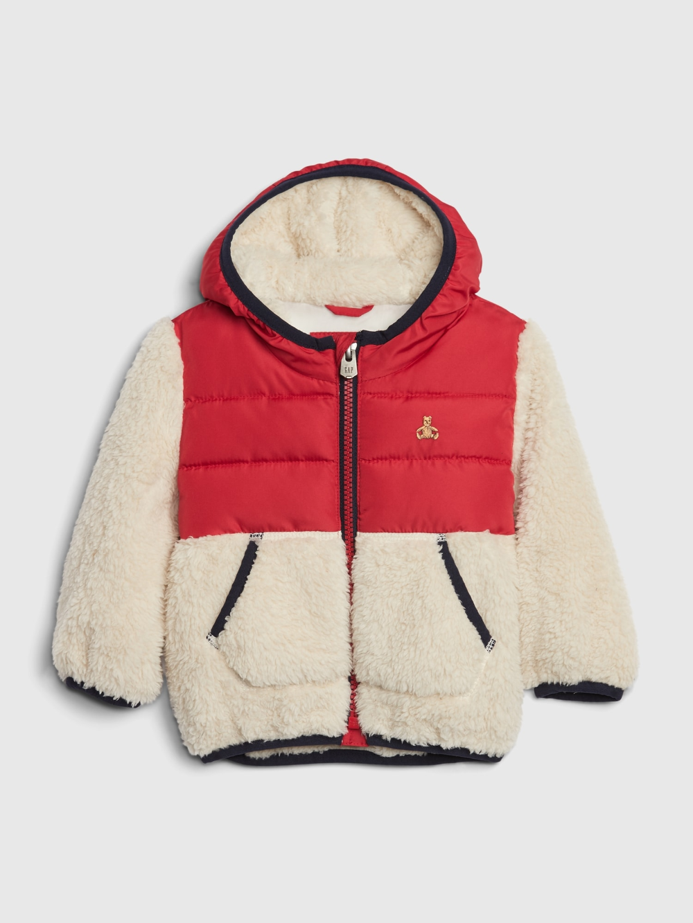 Baby Sherpa Puffer Jacket Gap Puffer Jackets Jackets Puffer [ 1333 x 1000 Pixel ]