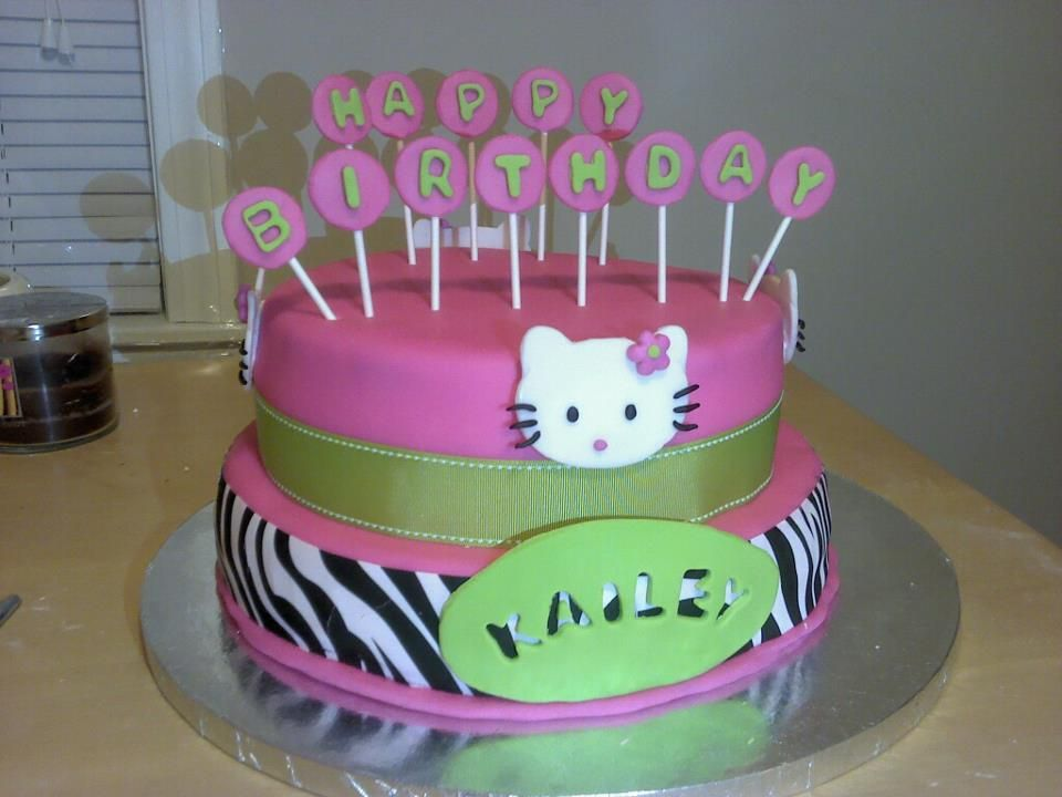 Zebra print Hello Kitty cake Cakes and ideas Pinterest Hello