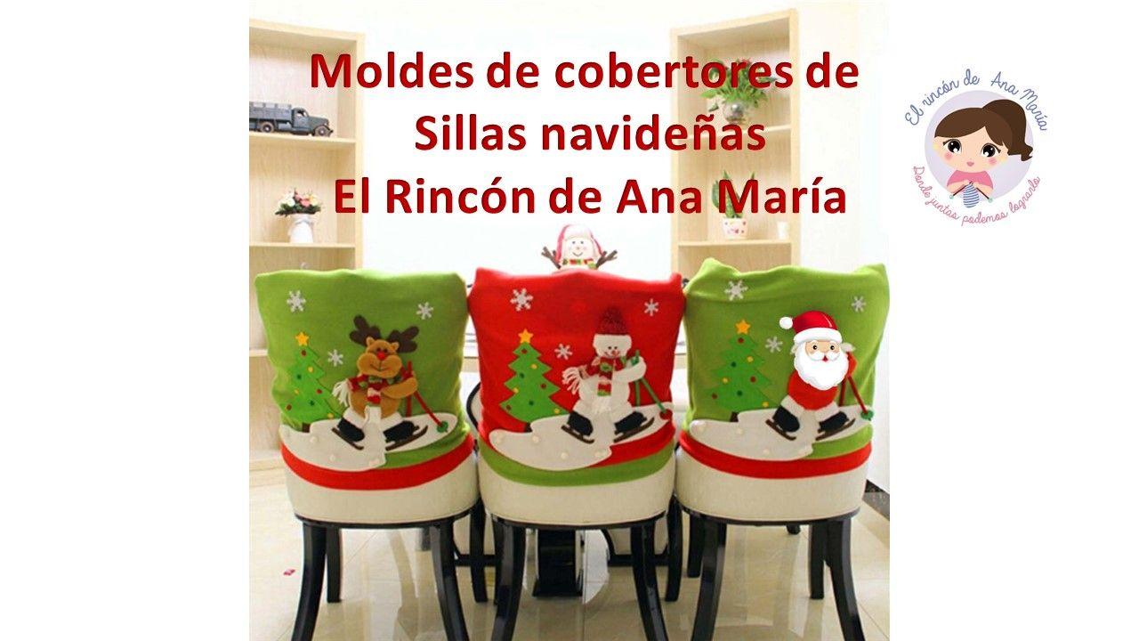El Rincon De Ana Maria Adquiera Ya Sus Moldes Exclusivos De Cobertores De Sillas Navideñ Cubre Sillas Fundas Para Sillas Navidad Cubresillas Navideños Moldes