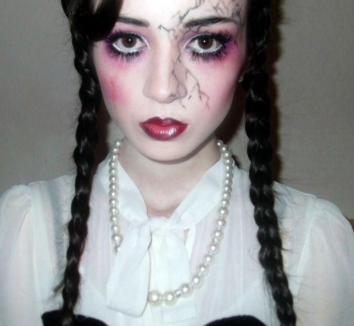 Claire Huskie Creepy Porcelain Doll Make Up Doll Makeup Halloween Doll Makeup Creepy Doll Makeup