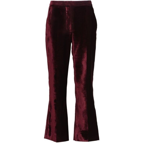 high-waisted cropped trousers - Red Stella McCartney LM1MtPZTKc