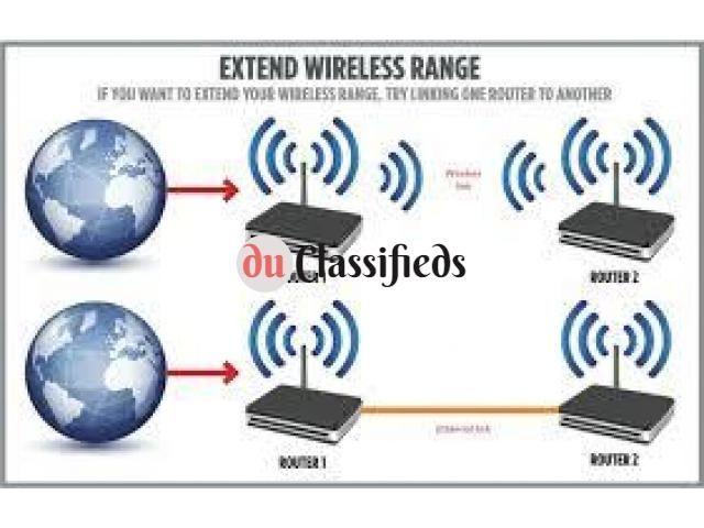 Dubai wifi Tplink Dlink internet connection Router extender