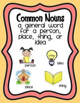Nouns Coloring Clipart