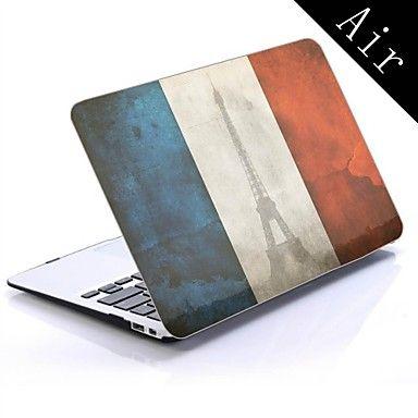 frankrijk vlag ontwerp full-body beschermende plastic behuizing voor de 11-inch / 13-inch nieuwe MacBook Air – EUR € 19.99