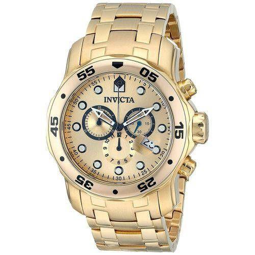823311dbdb0 Relógio Invicta Pro Driver Dourado Masculino - 0074 Especificações  Técnicas  Banhado A Ouro 18k Marca