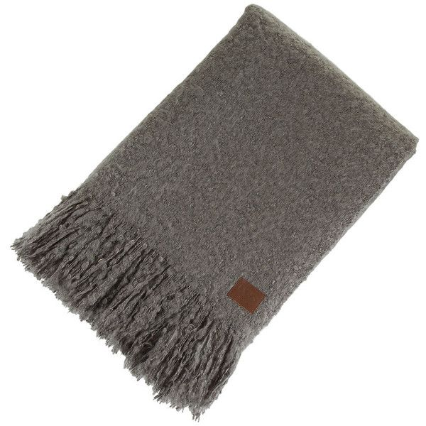 Ugg Throw Blanket Prepossessing Ugg® Luxe Mohair Throw  Grey $195 ❤ Liked On Polyvore Featuring 2018