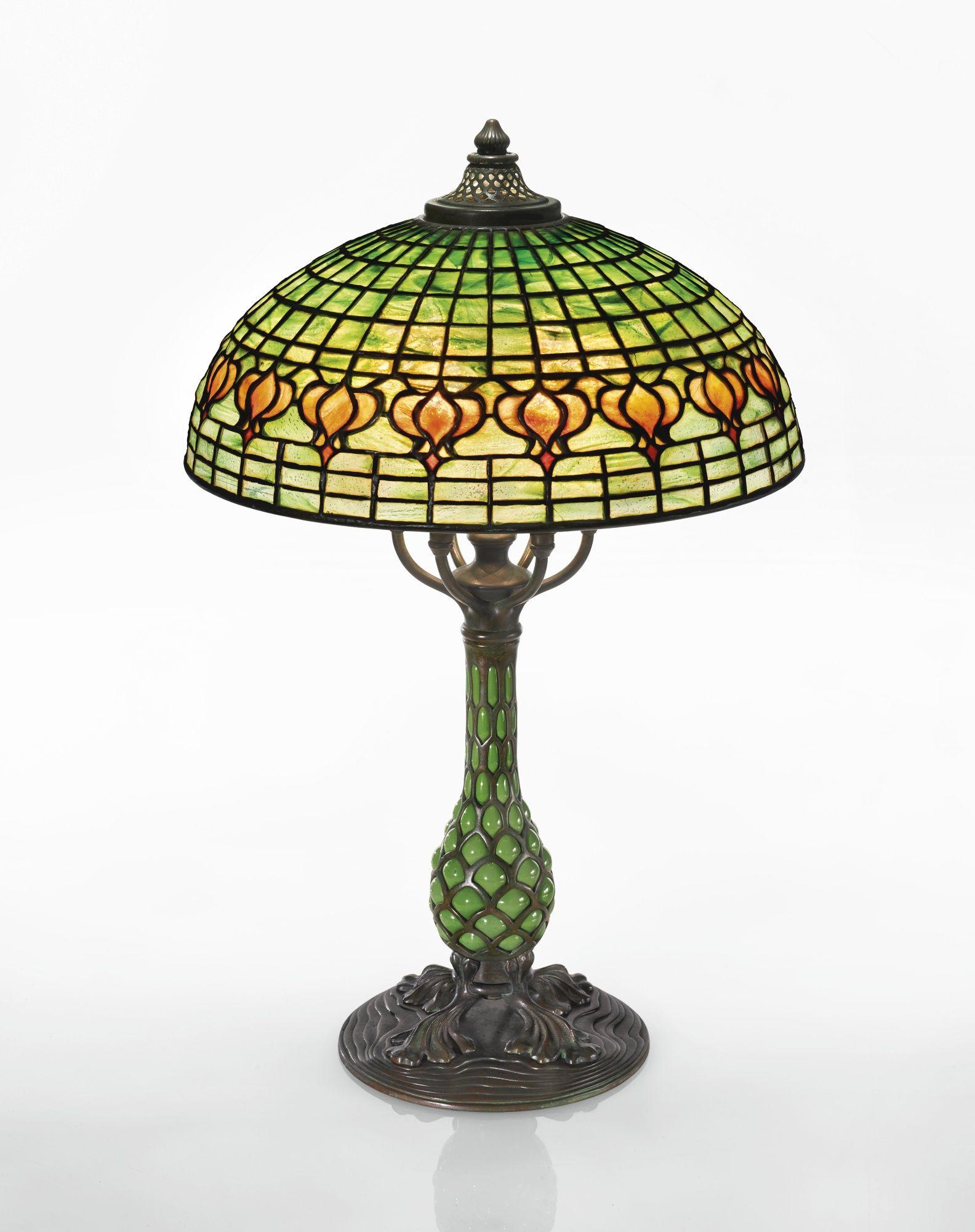 Tiffany Studios, Pomegranate table lamp