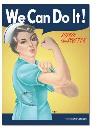Krankenschwestern geben Blasen