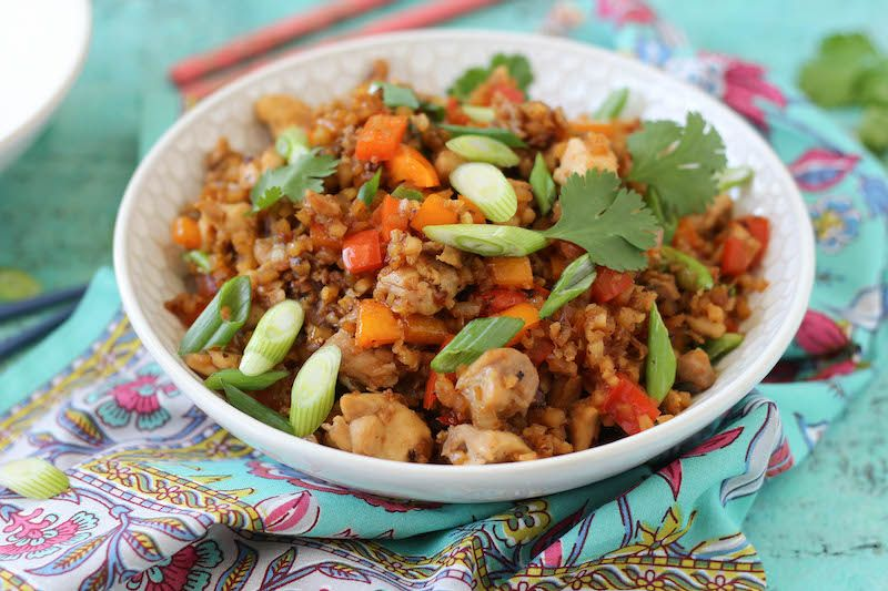 My Spin On Chicken Fried Rice Recipe Paleo Ish Recipes