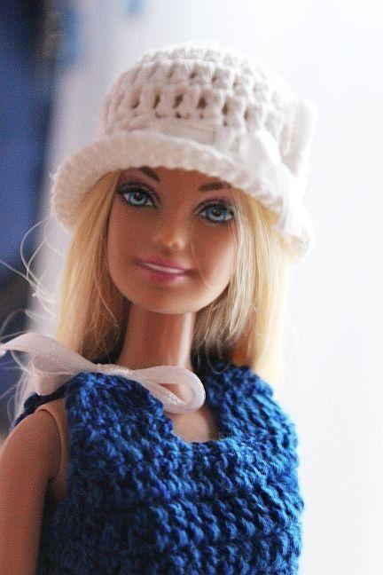 Kostenlose Häkelanleitung für Barbie Kleid und Hut | Basteln ...