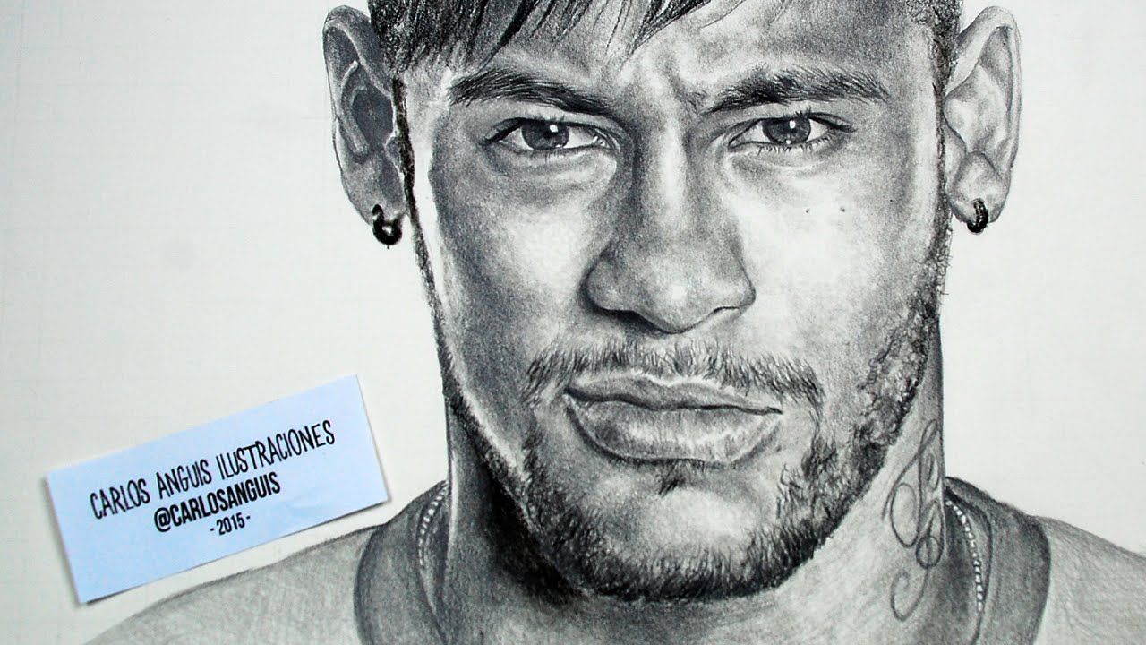 Drawing Neymar Jr Drawings Neymar Jr Black Pen Drawing