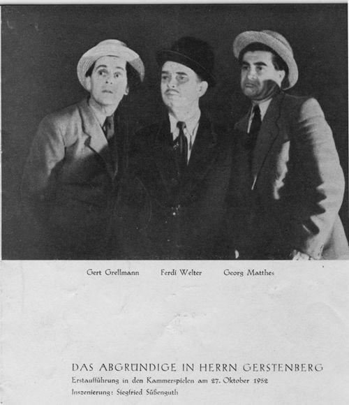 Das Abgründige in Herrn Gerstenberg / Szenenfoto / Photo credit: Julius Schmidt / #staatstheatersaarland