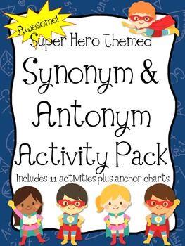 Super hero theme synonym antonym super unit super hero theme super hero theme synonym antonym super unit youll love teaching synonyms antonyms stopboris Image collections