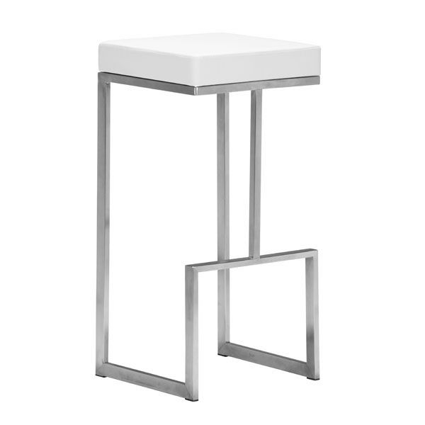 Stylish Square Counter Stool With Stainless Steel Frame Modern Bar Stools Bar Chairs Bar Stools