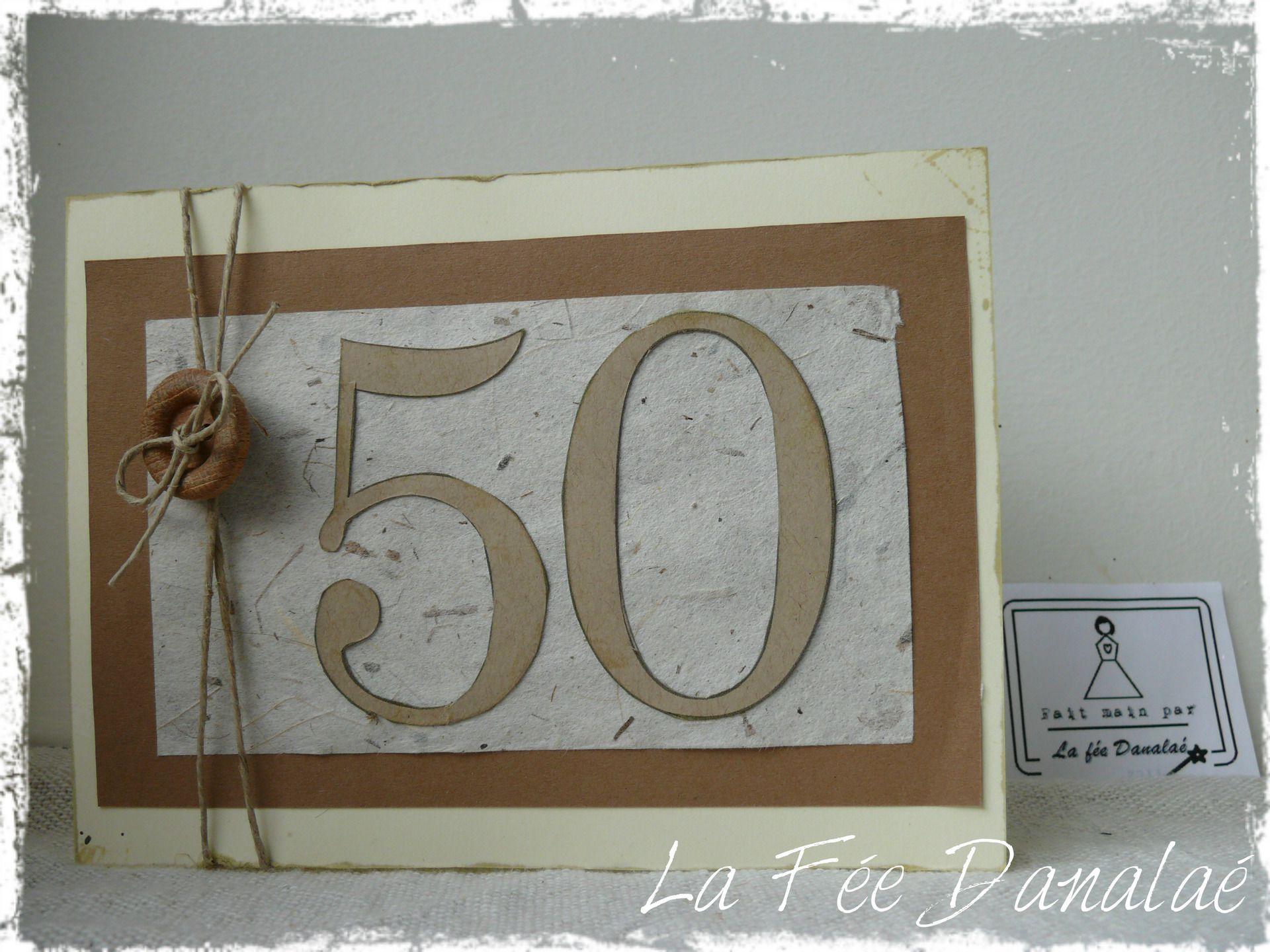 carte d invitation anniversaire 50 ans