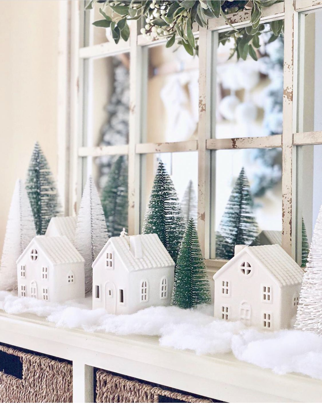 Winter Decor Winter Mini Village Bottlebrush Trees Target