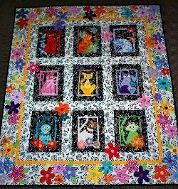 My Applique Cat Quilt | Cat, Patterns and Fabrics : applique cat quilt patterns - Adamdwight.com