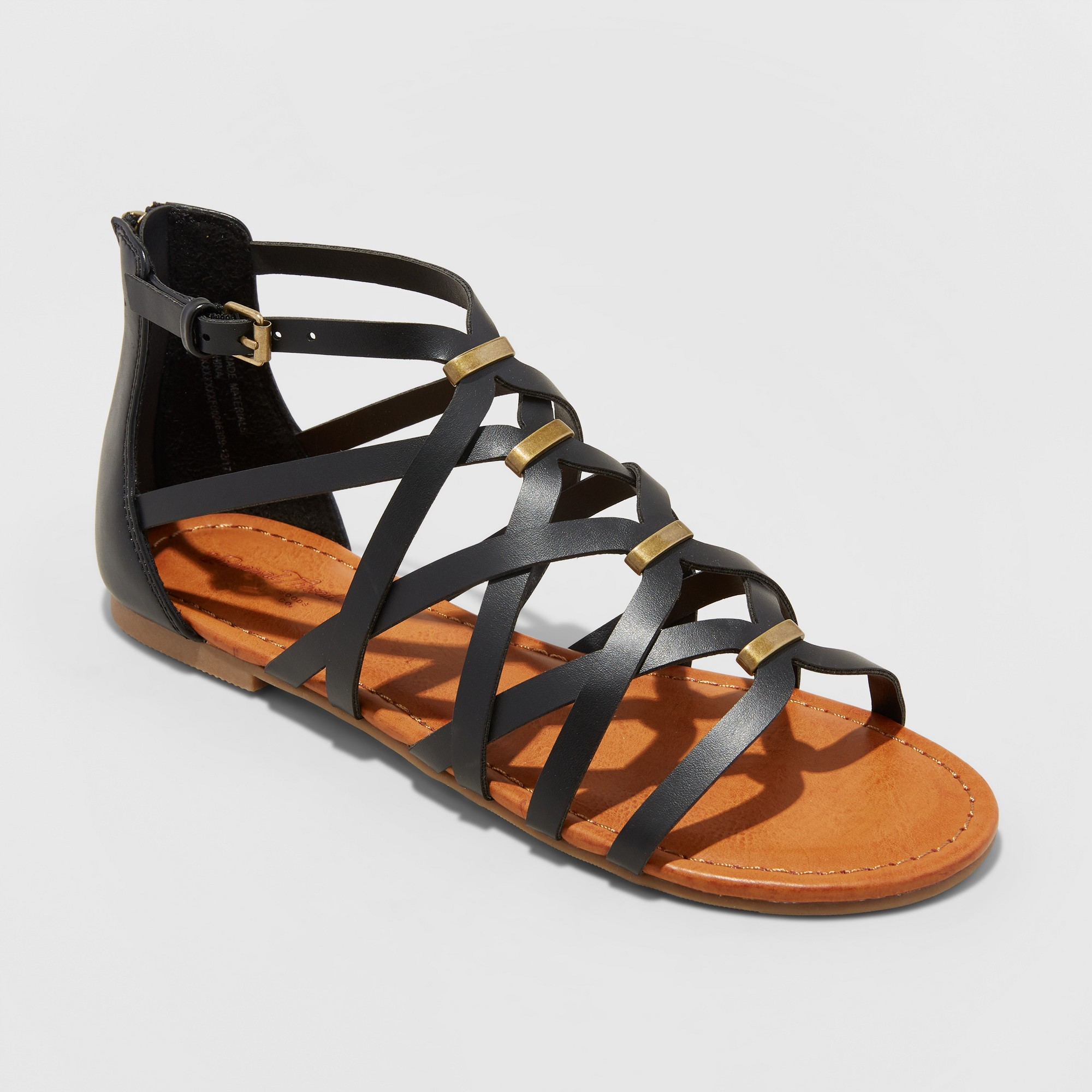952e83a6d7c Stride through your day in warm-weather style when you sport the Kerri Gladiator  Sandals from Universal Thread. These black gladiator sanda…