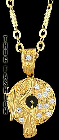 Gold Bling Rocafella Pendant Thug Fashion be33097d2