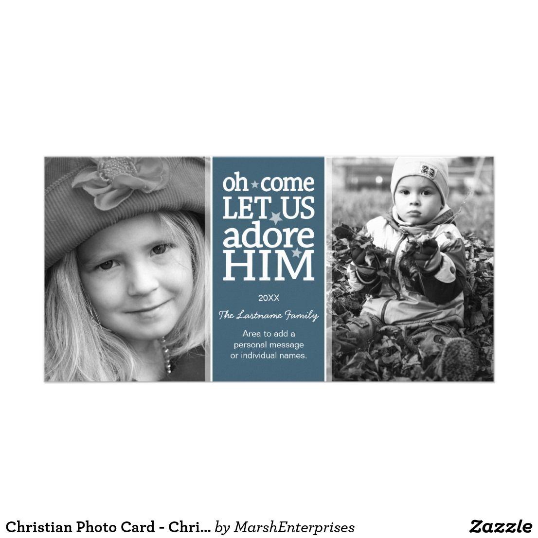 Christian photo card christmas holiday
