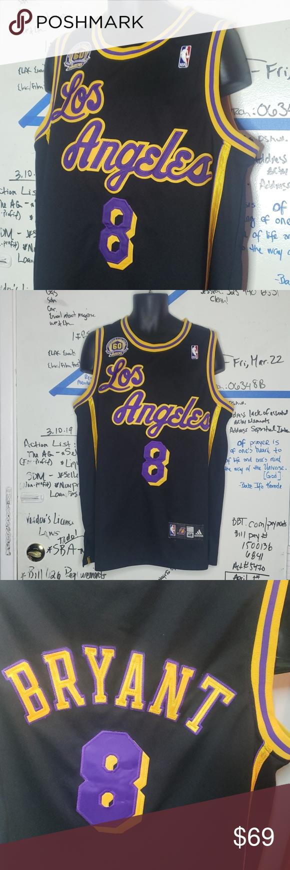 0b8a1d69e NBA Los Angeles Lakers Kobe BryantJersey Kobe  8 60th anniversary Jersey  adidas Other