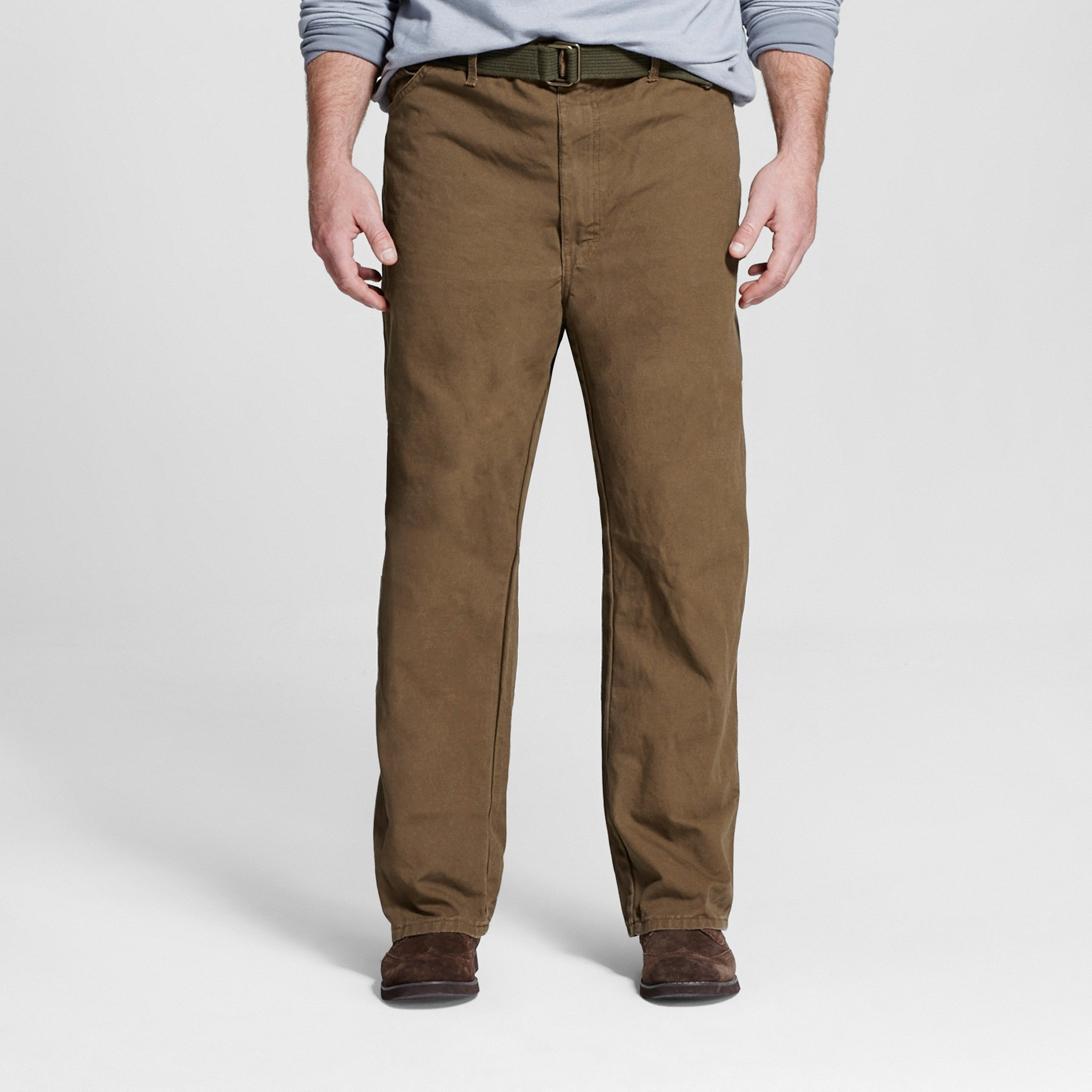 bee1bf10 Dickies Men's Big & Tall Relaxed Straight Fit Canvas Duck Carpenter Jean-  Timber 44x34