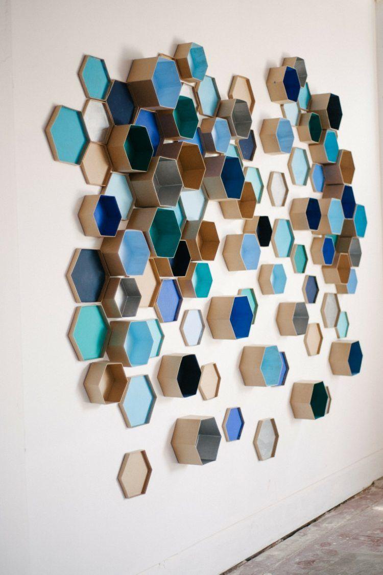 Faire Un Mur De Photos Décoration le motif hexagone en décoration d'intérieur – 20 idées super
