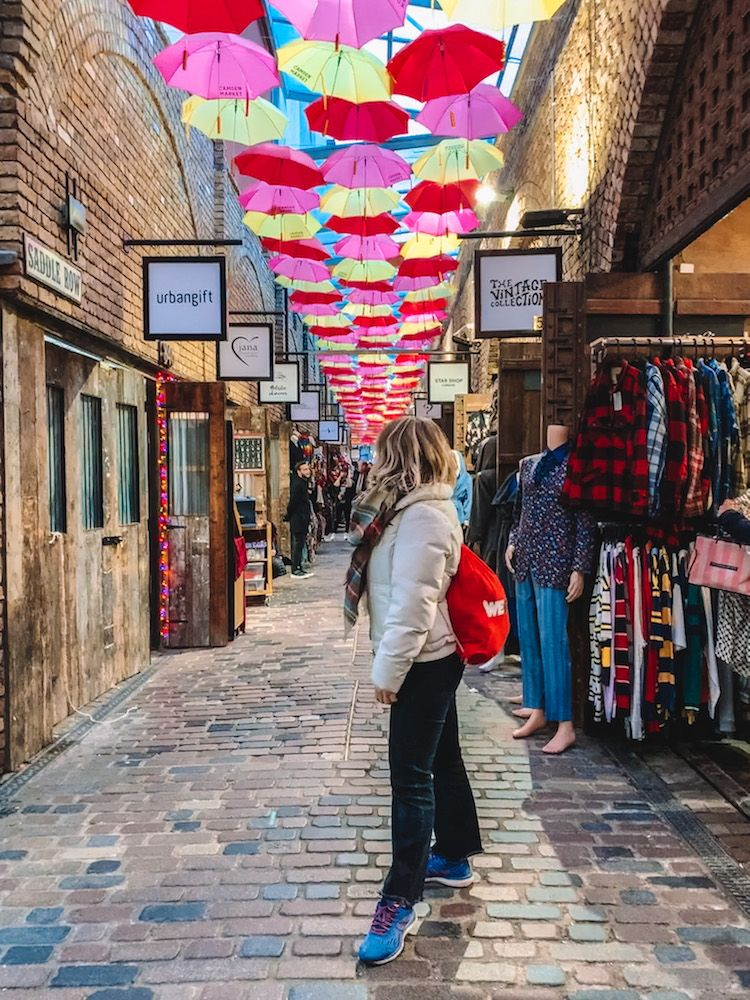 The Colourful Umbrella Street In Camden Market London Is One Of The Most Instagrammable Cities In The World Whethe London Places London Market London Photos