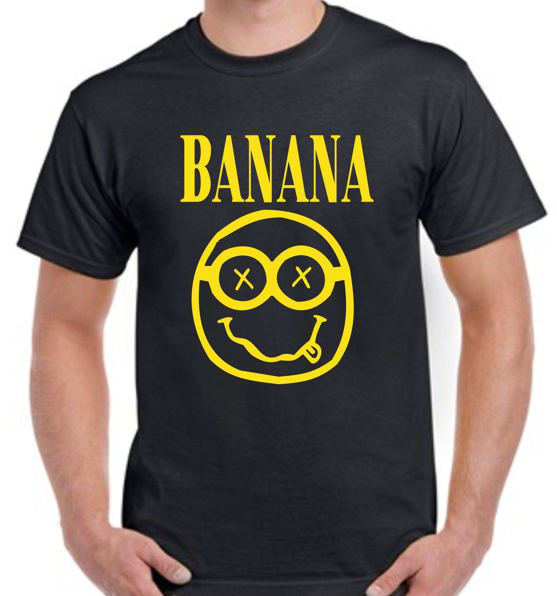 881abb238a Banana Nirvana Minion Mash up T shirt | clothes | Mens tops, T shirt ...