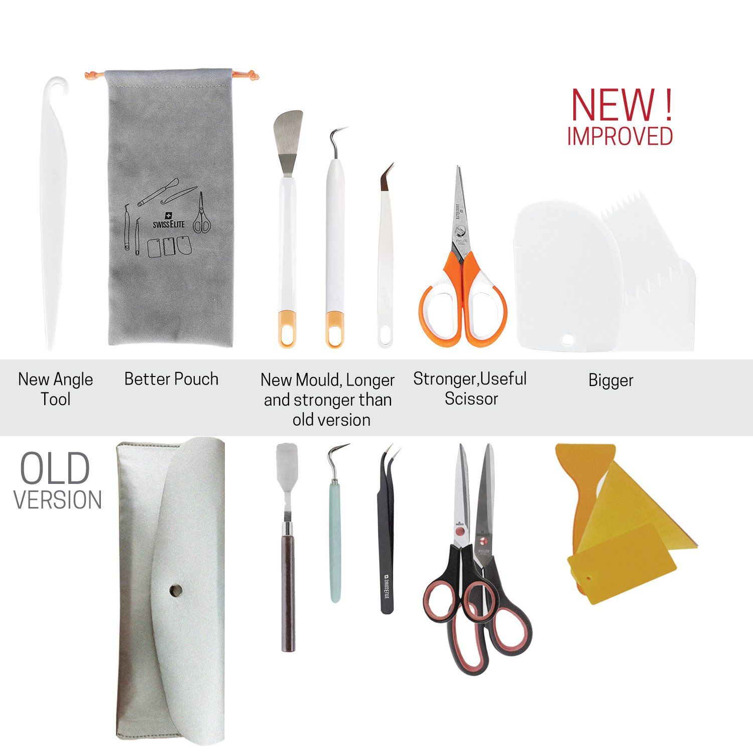 Craft Weeding Tools with Flannelette Bag for Vinyl by Craft Weeding Tools Set