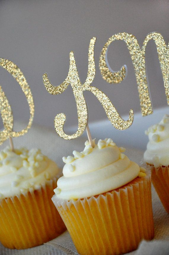 initial letter cupcake toppers set of 12 by courtneyorillion