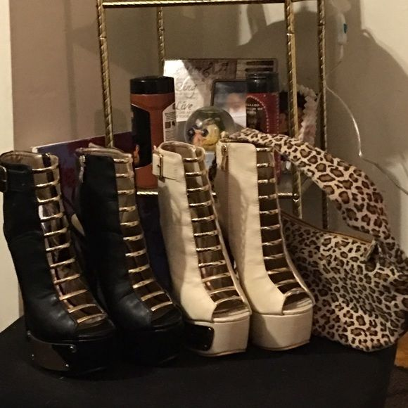 Two pairs of beautiful stilettos Brand-new black and beige stilettos never worn ALICE by Temperley Shoes Heeled Boots