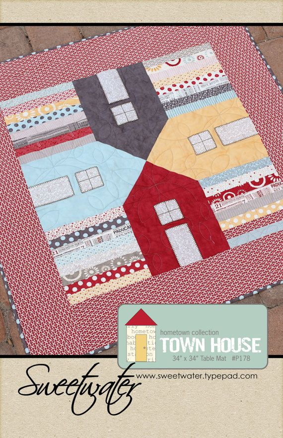 Townhouse Table Mat Pattern Download Pattern Quilting Pinterest House Quilts Quilts And House Quilt Patterns